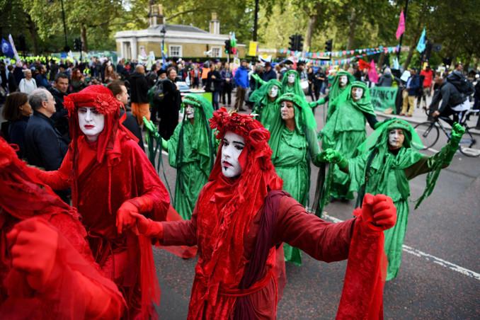 Manifestazione di Extinction Rebellion a Londra