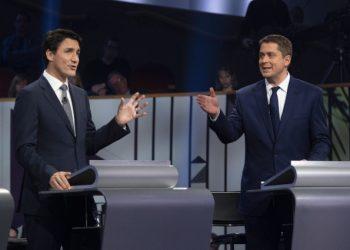 Dibattito tv tra Justin Trudeau e Andrew Scheer per elezioni in Canada