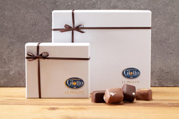 Praline Pasticceria Giotto, confezione regalo di Natale