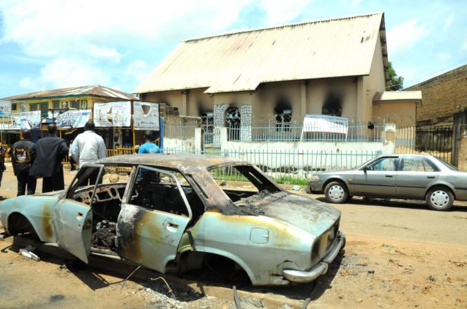 La scena di un attentato di Boko Haram in Nigeria