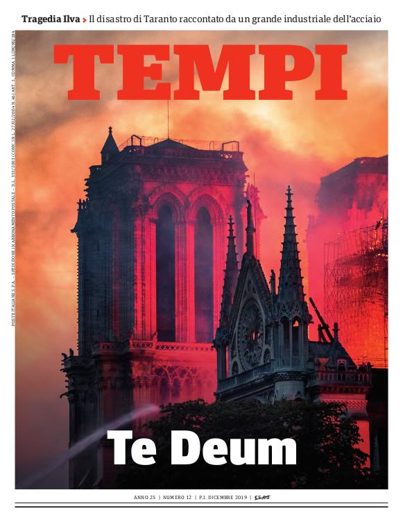 La copertina del numero di Tempi di dicembre 2019 dedicato al Te Deum