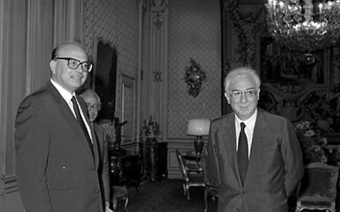Bettino Craxi con Francesco Cossiga