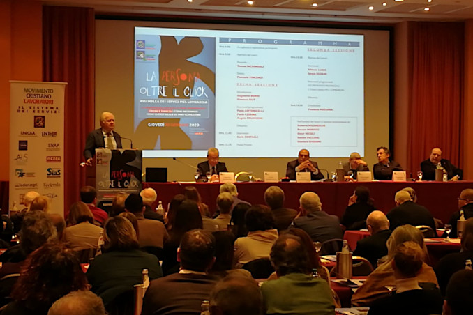 Intervento di Carlo Costalli all'assemblea servizi di Mcl