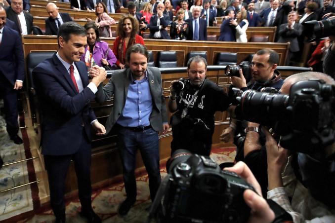 Pedro Sanchez e Pablo Iglesias