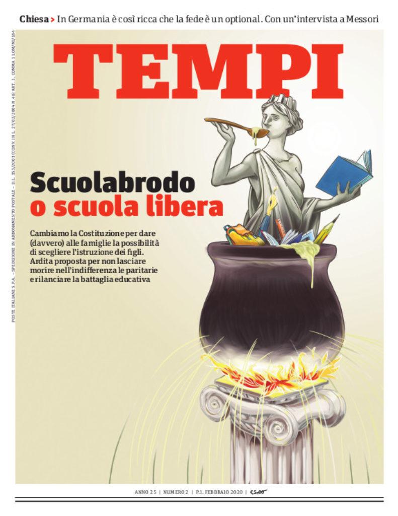 La copertina del numero di febbraio 2020 di Tempi
