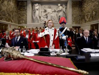 Alfonso Bonafede e Piercamillo Davigo all'inaugurazione dell'anno giudiziario a Milano