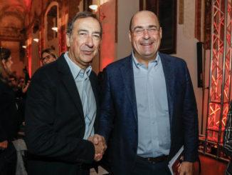 Beppe Sala e Nicola Zingaretti