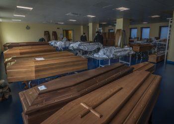 Bare all'ospedale di Bergamo durante l'emergenza coronavirus