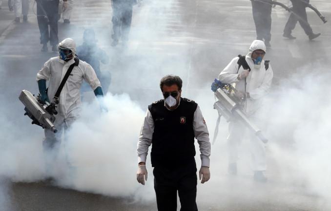 Sanificazione contro il coronavirus in Iran