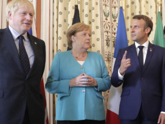 Boris Johnson, Angela Merkel, Emmanuel Macron, Giuseppe Conte