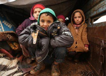 Bambini profughi di guerra in Siria