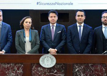 Lorenzo Guerini, Luciana Lamorgese, Giuseppe Conte, Luigi Di Maio, Alfonso Bonafede