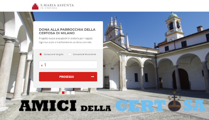 Il sito della Certosa di Garegnano a Milano