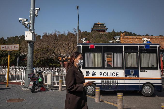 Sorveglianza a Pechino durante l'emergenza coronavirus