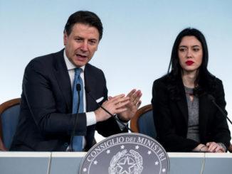 Giuseppe Conte e Lucia Azzolina