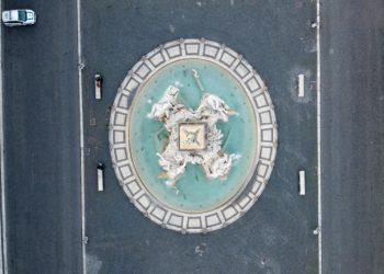 Piazza Navona a Roma deserta per l'emergenza coronavirus