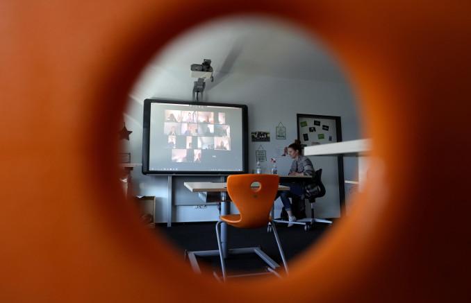 Didattica a distanza in una scuola in Germania