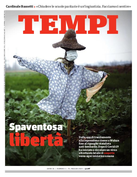 La copertina del numero di maggio 2020 di Tempi