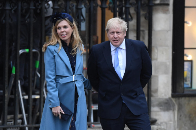 Boris Johnson con la fidanzata Carrie Symonds