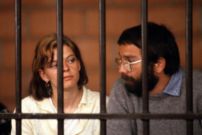 Maurice Bignami e Maria Teresa Conti durante il processo a Prima Linea
