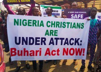 nigeria cristiani protesta