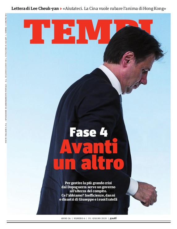 La copertina del numero di giugno 2020 di Tempi
