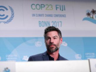 Michael Shellenberger durante Cop 23, conferenza Onu sul cambiamento climatico