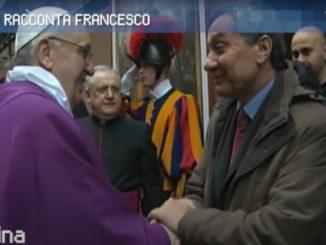 Papa Francesco con Lucio Brunelli