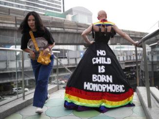 Manifestazione contro l'omofobia in Thailandia