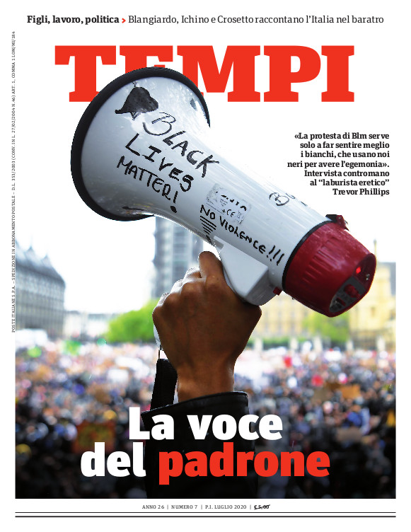 La copertina del numero di luglio 2020 di Tempi
