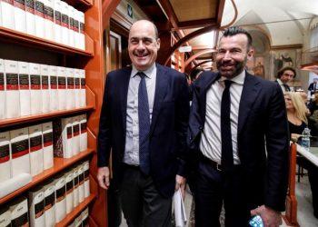 Nicola Zingaretti e Alessandro Zan (Pd)
