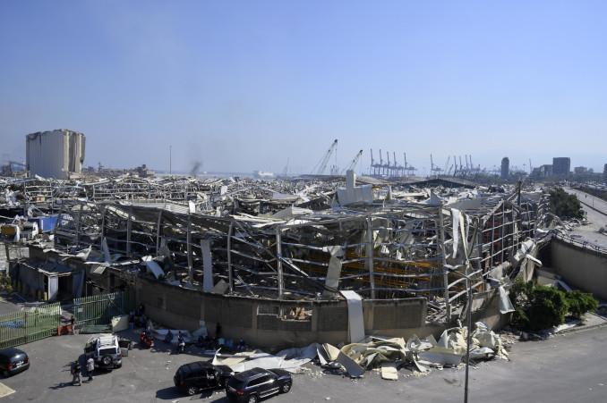 Distruzione a Beirut dopo le esplosioni di martedì 4 agosto nel porto della città