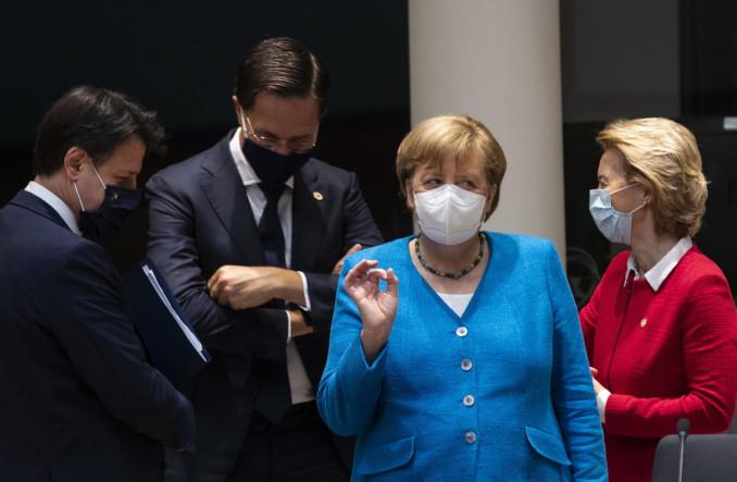 Giuseppe Conte, Mark Rutte, Angela Merkel, Ursula von der Leyen