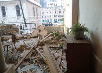 Convento dei francescani di Beirut danneggiato dall'esplosione nel porto della città