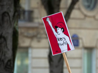 Manifestazione contro la legge di bioetica in via di approvazione in Francia