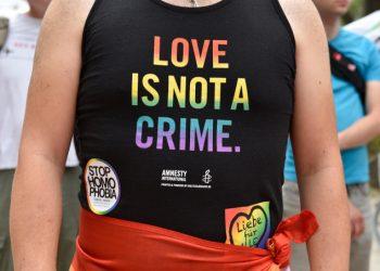 Manifestazione Lgbt contro l'omofobia
