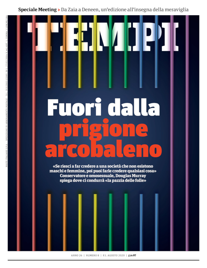 La copertina del numero di agosto 2020 di Tempi