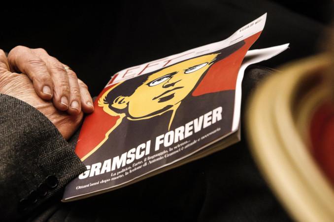 Antonio Gramsci sulla copertina della rivista Left