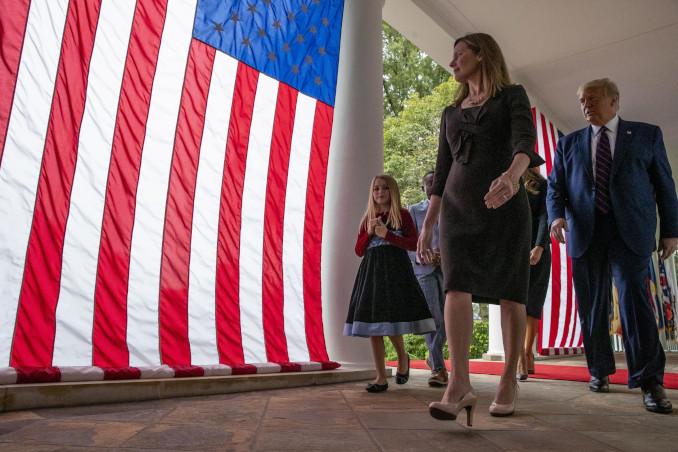 Donald Trump e Amy Coney Barrett alla Casa Bianca