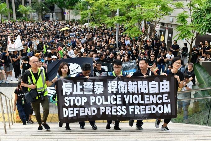 hong kong libertà stampa
