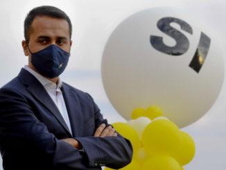 Comizio di Luigi Di Maio per il sì al referendum sul taglio dei parlamentari