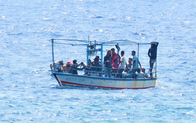 Sbarco di migranti a Lampedusa