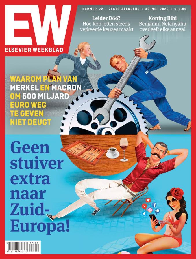 Copertina del settimanale olandese Elsevier Weekblad contro l'Italia