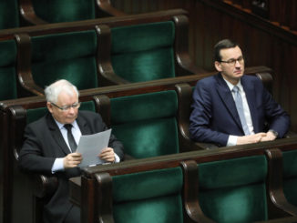 Jaroslaw Kaczynski e Mateusz Morawiecki