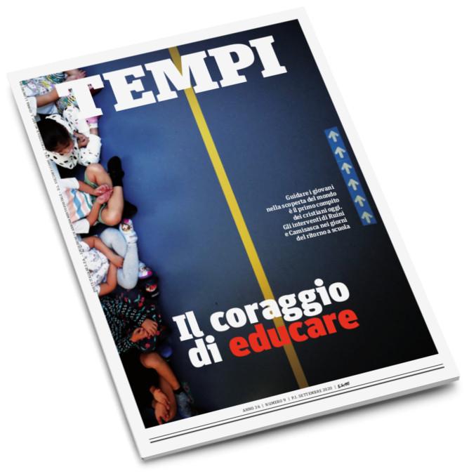 La copertina del mensile Tempi di settembre 2020