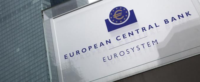 Targa davanti al quartier generale della Banca centrale europea