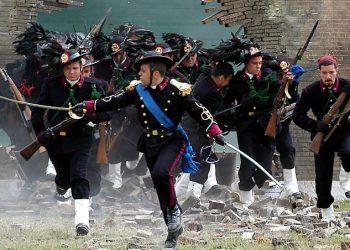 Simulazione della Breccia di Porta Pia inscenata dai bersaglieri nel 2004