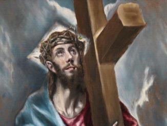 Cristo porta la croce di El Greco, particolare