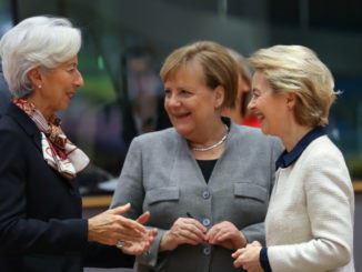 Christine Lagarde, Angela Merkel, Ursula von der Leyen