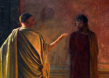 Che cos'è la verità? Cristo e Pilato, dipinto di Nikolaj Nikolaevič Ge, particolare